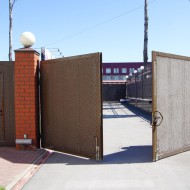 Распашные раздвижные ворота