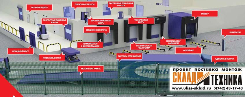 Оборудование для складов и промышленных помещений производства DoorHan