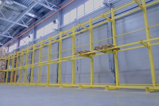Поставка и монтаж консольных стеллажей для ООО «СЭСТ-ЛЮВЭ»