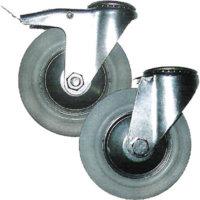 Колесные опоры поворотные и поворотные с тормозом крепление под болт серии GSCH и GSCHb