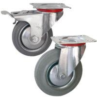 Колесные опоры поворотные и поворотные с тормозом серии GSC и GSCb