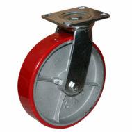 Колесные опоры полиуретановые поворотные, поворотные с тормозом и не поворотные серии SCp, SCpb, FCp