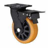 Колесные опоры полиуретановые поворотные, поворотные с тормозом и не поворотные серии SСpu, SCpub, FCpu