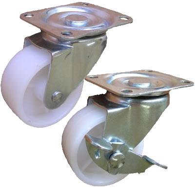 Колесные опоры цельнолитой полиэтиленовый ролик серии 23050P, 23050PB