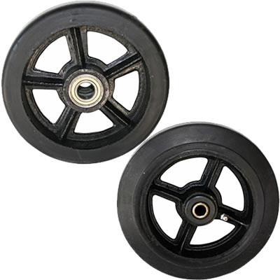 Колеса большегрузные литая черная резина серии D, DL