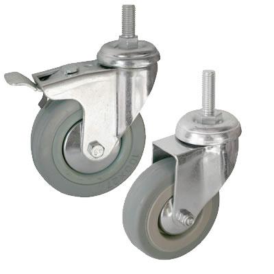 Колесные опоры поворотные серая резина серии SСtg, SСtgb