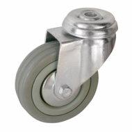 Колесные опоры поворотные серая резина серии SСhg, SСhgb