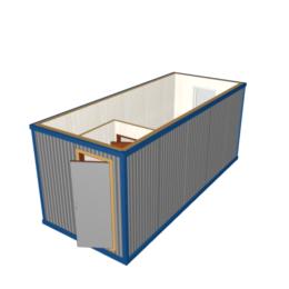 Блок-контейнер БК-01 отделка панелями МДФ
