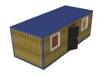 Блок-контейнер с наружной отделкой Вагонка БК-04