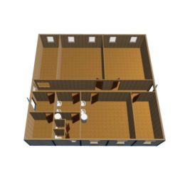 Модульное здание из блок контейнеров МК-14