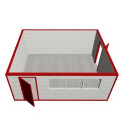 Модульное здание МК-02 из сэндвич-панелей